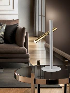Lampe de table Varas or/blanc