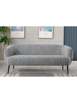 Canapé gris effet plissé gris chiné