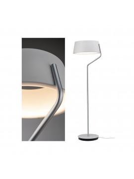 Lampadaire LED chrome mat/blanc